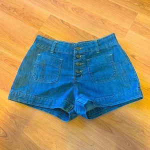 NEXT high waisted jean shorts